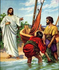 Jesús llama a Santiago y a Juan