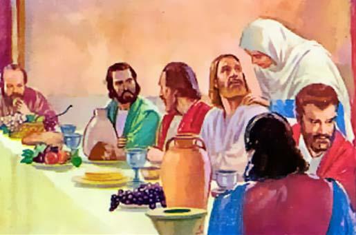 EN LAS BODAS DE CANÁ. María le pide a Jesús