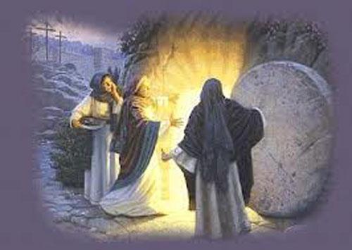 Resultado de imagen para Jesús en el sepulcro y las mujeres