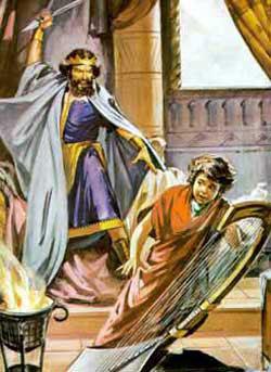 Resultado de imagen para Saúl rechazado por el Señor, tiene temor de David e intenta matarlo