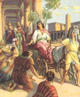 José al frente de la casa de Faraón