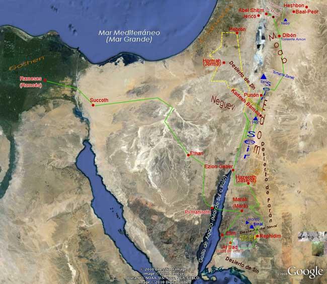 Por el Desierto, ruta de Egipto a Moab